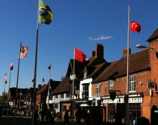 Flags in Rother Street2