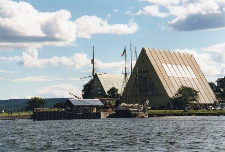 Museum housing the Kontiki, Viking Ships, and Fram, the vessel built for Nansen's Polar Expedition