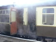 Open Carriage Door on Steam Train at Toddington Railway