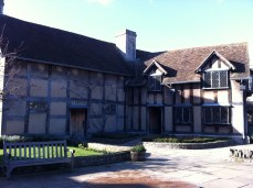 Rear of Shakespeare's Birthplace where his father John had a glovers business. There was a Tannery behind