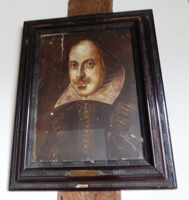 Portrait given to the school for the Tercentenary of Shakespeare's birth