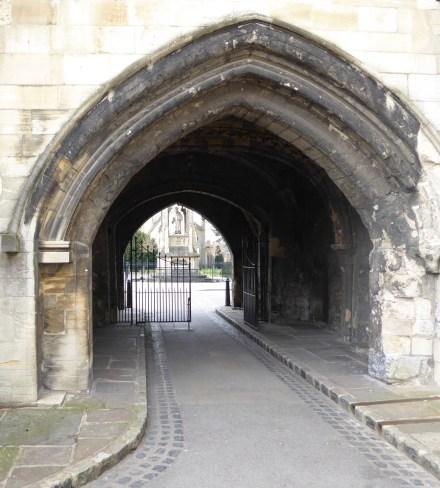 Gateway to Bishop Hooper's memorial