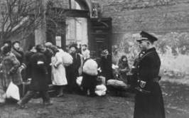Jews forced from their homes in Krakow