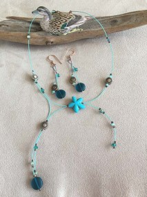 Sea glass and floating bead set