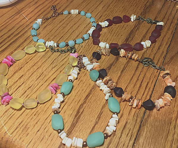 sea glass anklets