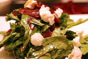 Delicious Goat Cheese & Beet Salad