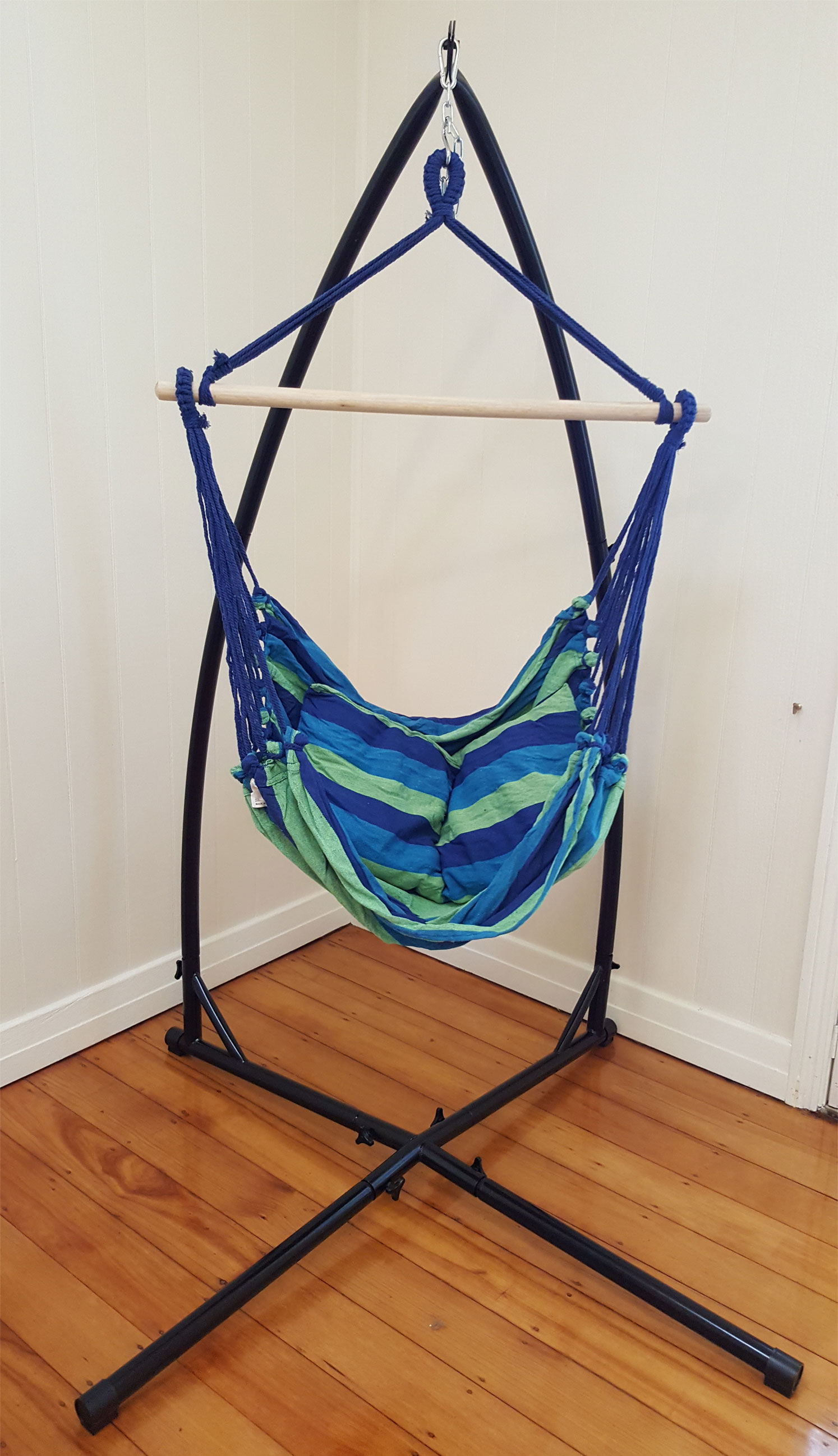 Hammock Chair Stands Blue Padded Hammock Chair With Pillows With Stand