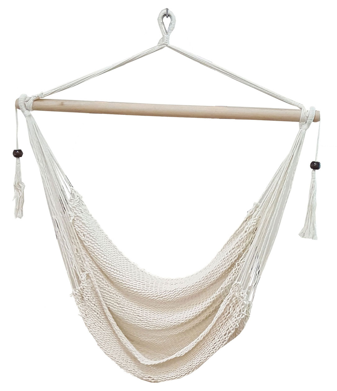 Hammock Hanging Chair White Cotton Rope Hammock Chair With Tassels Heavenly