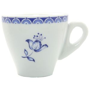 Blue Floral Espresso Cups | Bring home a classic. These blue floral espresso cups would look fabulous on your breakfast table! | heavenlyhomecooking.com