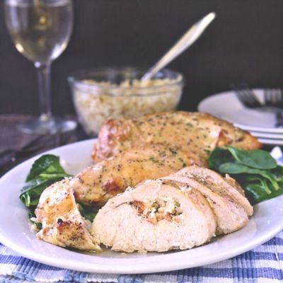 Garlic and Herb Stuffed Chicken Breasts