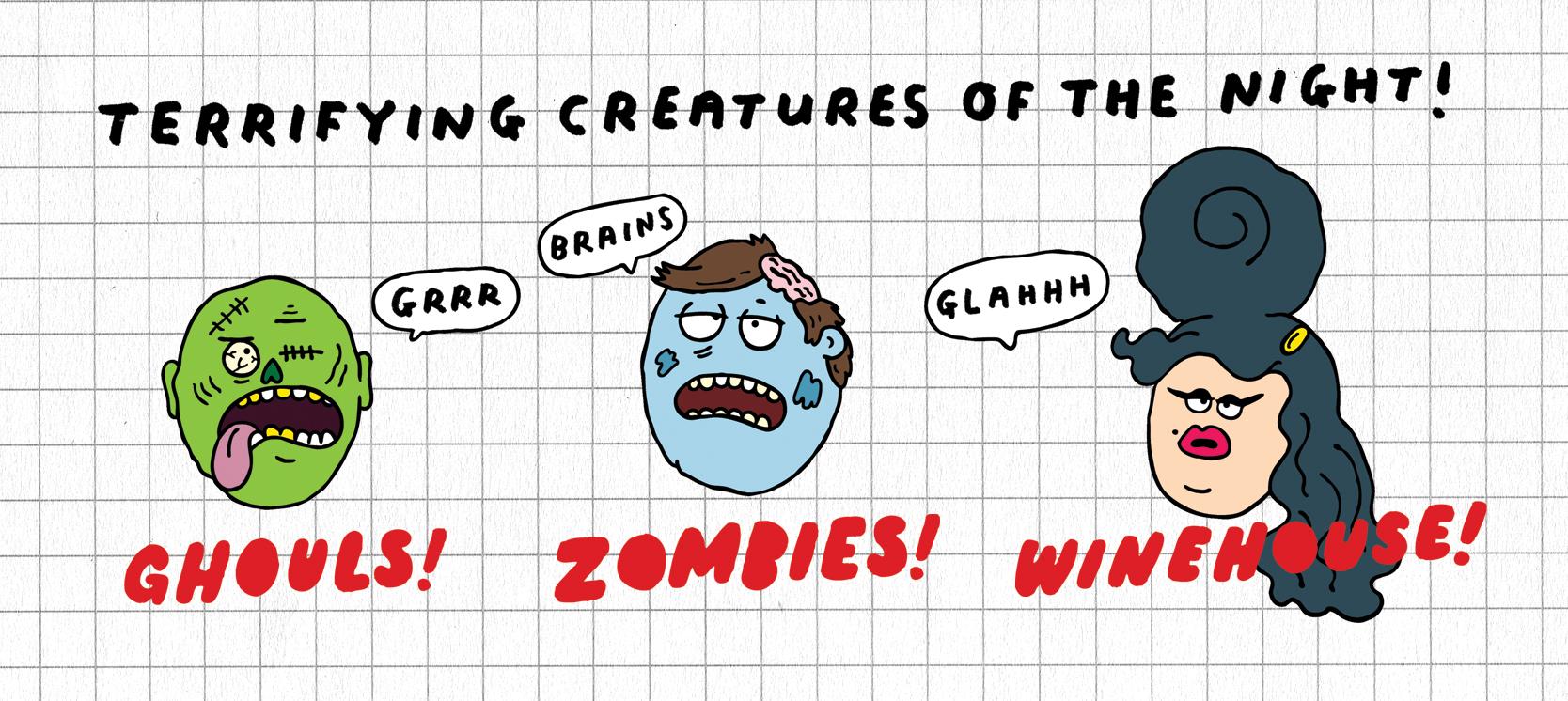 Halloween Creatures by Al Murphy