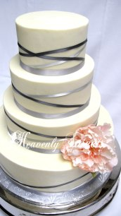Heavenly Sweets Ribbon Wrapped Wedding Cake