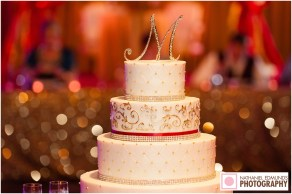 Monica and Keaton's Wedding Cake Photo by Nathan Edwards Photography