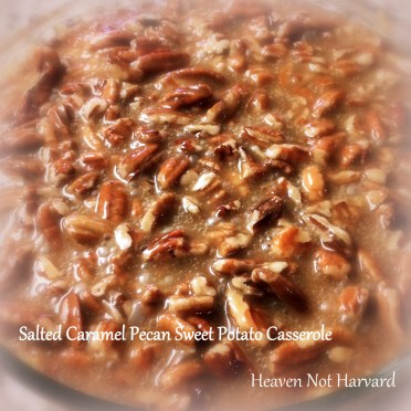 Salted Caramel Pecan Sweet Potato Casserole