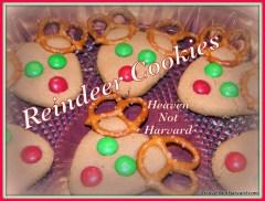 Reindeer Cookies Recipe and directions - Heaven Not Harvard