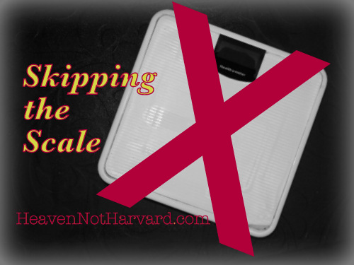 Skipping the Scale - Heaven Not Harvard. A year without a scale because a set of numbers doesn't set my value.