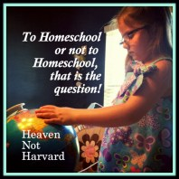 To Homeschool or not to Homeschool, that is the question!
