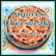The best of gooey smores and cheesecake in a delicious dessert.