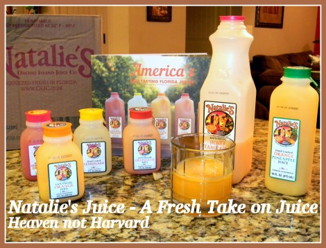 Natalie's Juice - a fresh take on juice that I feel good taking home to my family. Heaven Not Harvard