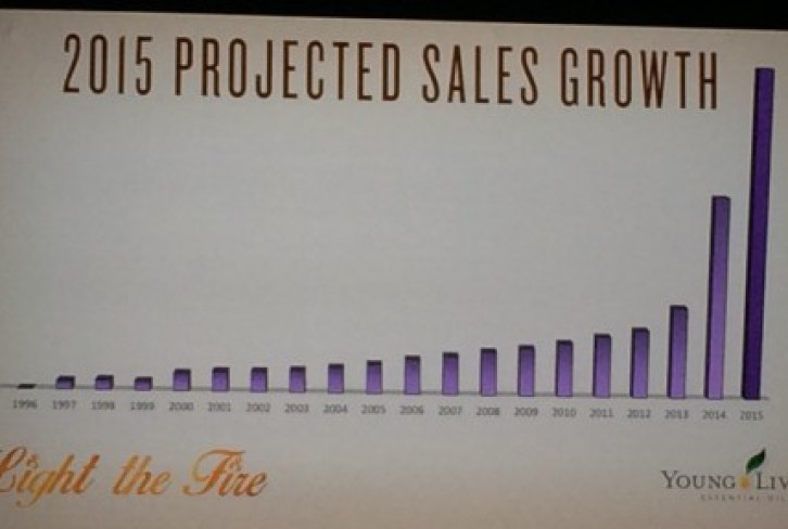 2015 projected sales growth