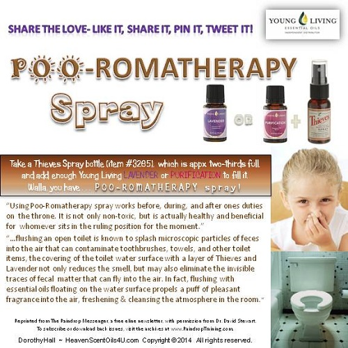 POO-ROMATHERAPY spray reduced