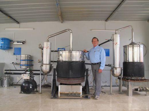Gary Young at Oman distillery