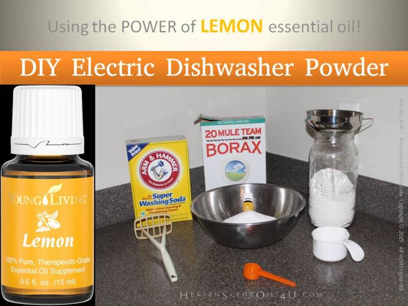 Learn how to make this easy, and very cost effective DIY Electric Dishwasher Powder here. Learn more about living chemical free here... HeavenScentOils4U.com
