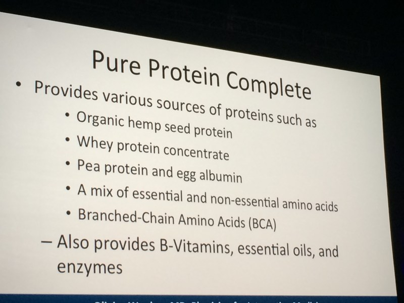 pure protein details  2015 covention
