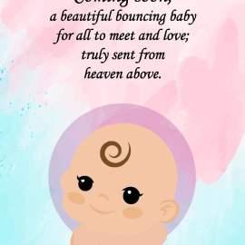 Coming Soon Baby Card