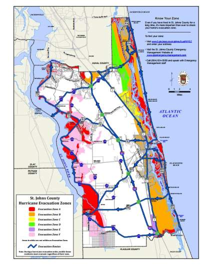Venice Fl Hurricane Evacuation Zones : venice, hurricane, evacuation, zones, Johns, County, Evacuation, Zones, Shelters, Hurricane, Heavy.com