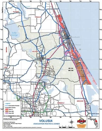 Volusia County Flood Map : volusia, county, flood, Daytona, Beach, Evacuating, Because, Hurricane, Irma?, [Sept., Update], Heavy.com