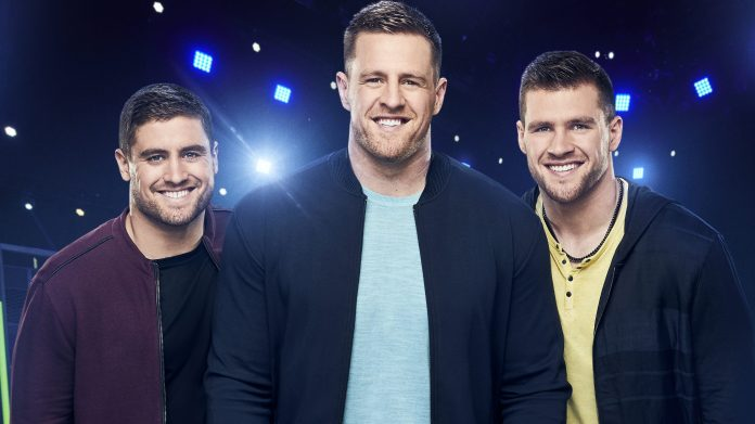 NFL superstar brothers JJ Watt (C), Derek (L) and TJ (R) host Ultimate Tag on FOX.
