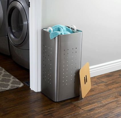 Household Essentials Square Metal Laundry Hamper