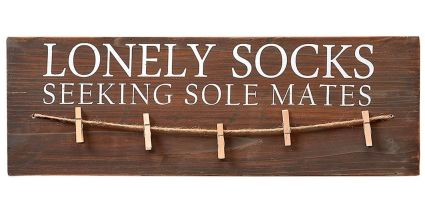 Lonely Socks Sign