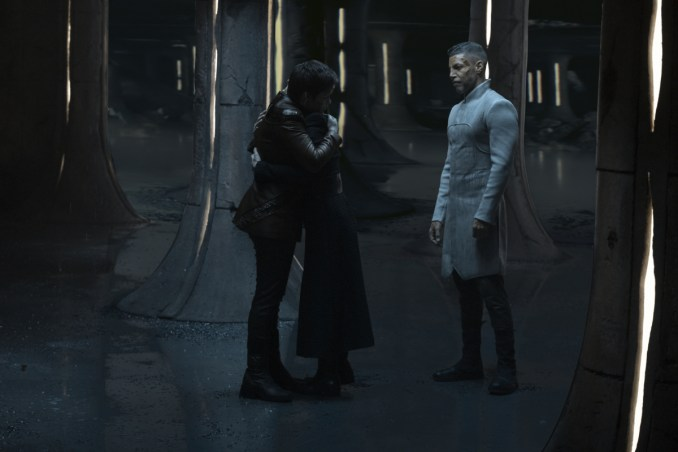 Pictured: Blu del Barrio as Adira, Ian Alexander as Gray and Wilson Cruz as Dr. Hugh Culber of the CBS All Access series STAR TREK: DISCOVERY.