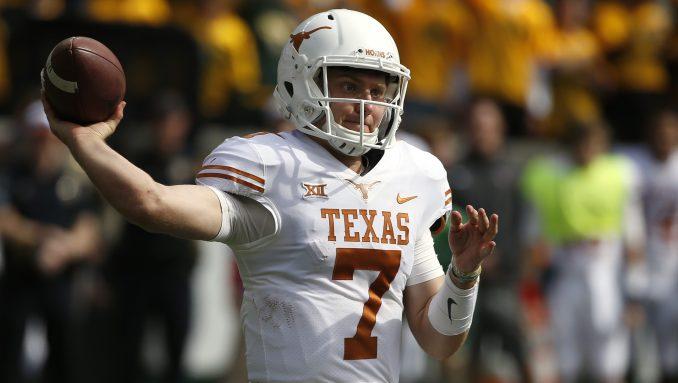 Shane Buechele with Texas
