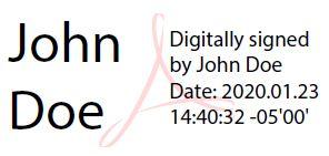 John Doe Digital Signature