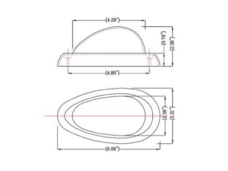 Freightliner® 3-Wire Teardrop LED Side Marker Turn Light