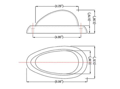 Freightliner® 2-Wire Teardrop LED Side Marker Turn Light