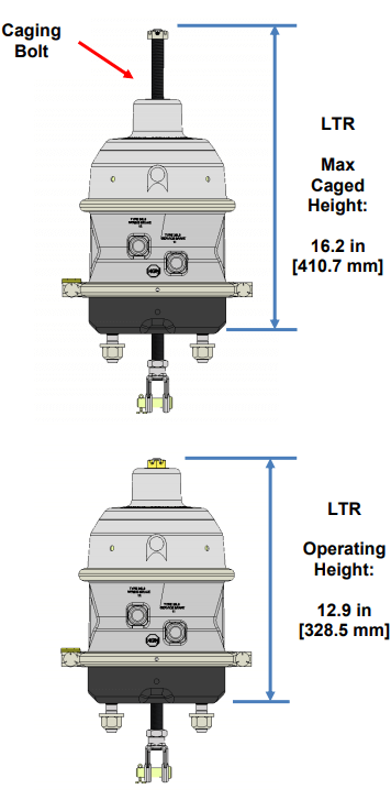 LTR Brake Actuator Dimensions