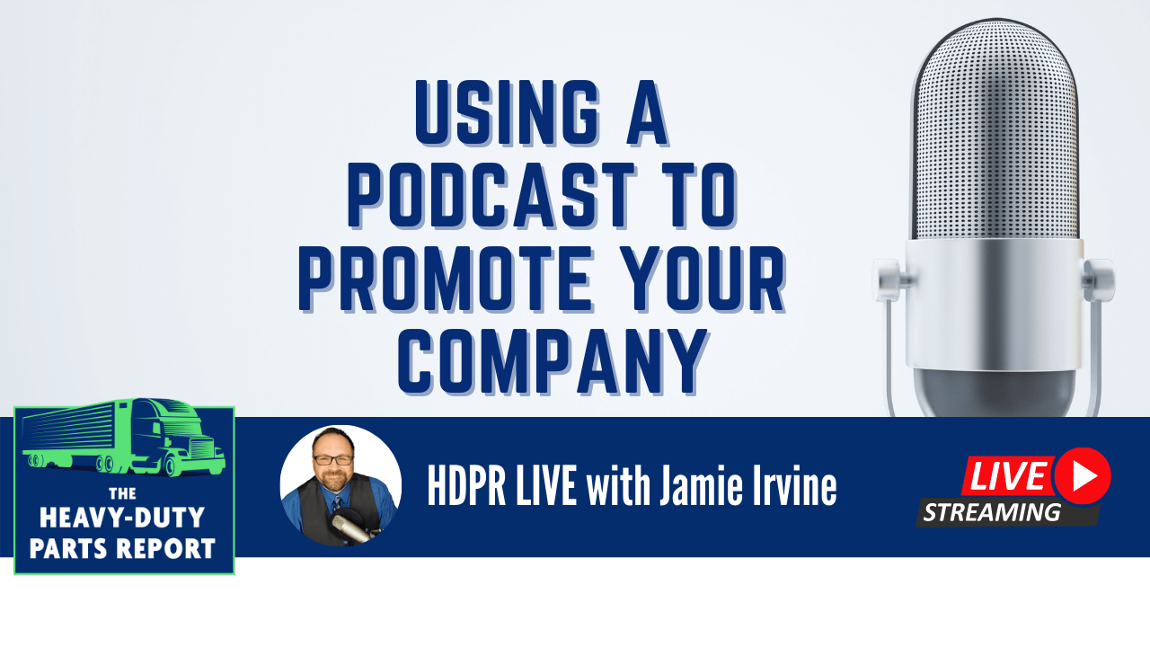 Jamie Irvine talks about using a podcast to promote your company.