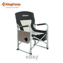 Heavy Duty Folding Chair With Side Table Cheap Chiavari Rental Miami Kingcamp Camping Director S Portable Outdoor