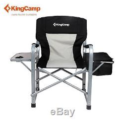 heavy duty folding chair with side table drafting office kingcamp camping director s portable outdoor