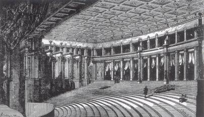 Zuschauerraum des Bayreuther Festspielhauses