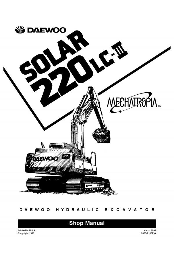 Daewoo Doosan S220LC-III Service Manual