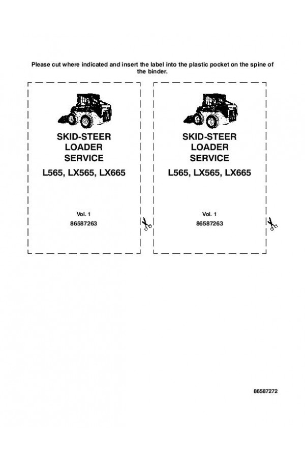 New Holland L565, LX565, LX665 Service Manual