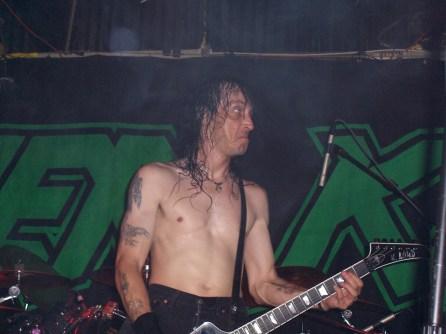 "Derek ""The Skull"" Tailer, Joe's Bar, Chicago, IL 4-17-05. Picture by Heavy Metal Feline."