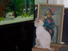 Sophie watching the fish circa 2006