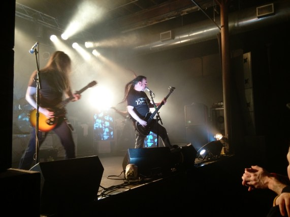 Carcass at Wooly's, Des Moines, IA 3-10-16. Picture by Heavy Metal Feline.