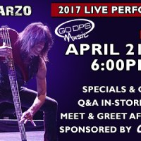 RUDY SARZO To Hold Clinic and Performance at GoDpsMusic on Friday, April 21 Sponsored by Chromacast